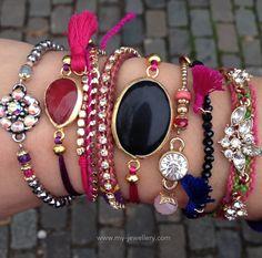 www.my-jewellery.com #armcandy #bracelets #jewellery #gold #colour