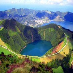 Lake of fire, Sao Miguel Island, Azzore