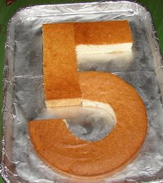 Number 5 cake - so easy!
