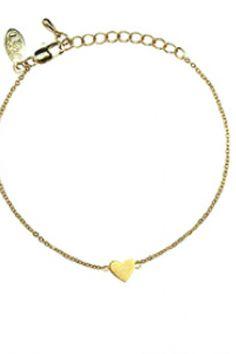 Jolie & Deen Heart Bracelet Gold http://zipmeup.co.nz/Jolie-and-Deen/Heart-Bracelet-Gold xx