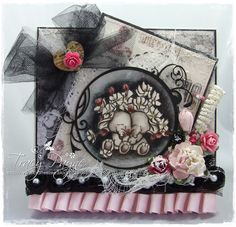 Gorgeous Floral Hugs by Wild Rose Studio stamp