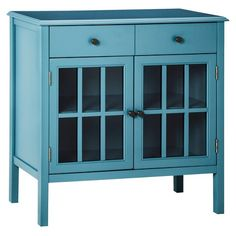 $135 - Windham Accent Cabinet with Drawer Teal - Threshold™ 30.980 H x 31.7 W x 14 D