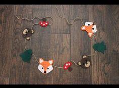 Woodland Felt Garland   Home & Garden, Holiday & Seasonal Décor, Christmas & Winter   eBay!