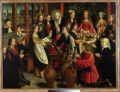 The Marriage Feast At Cana Painting by Gerard David