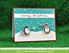 Lawn Fawn Intro: Snowy Backdrops Stamps and Snowy Backdrop Die Christmas Cards 2017, Stamped Christmas Cards, Homemade Christmas Cards, Christmas Decals, Holiday Cards, Christmas Crafts, Merry Christmas, Xmas, Card Making Inspiration