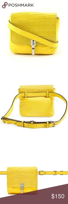 NWT! Elizabeth & James Cynnie Belt Bag Beautiful yellow Cynnie belt bag by Elizabeth & James! New with tag although there is one mark towards the bottom piping on the purse (shown in last photo). Perfect for Coachella or any music festival! Elizabeth and James Bags