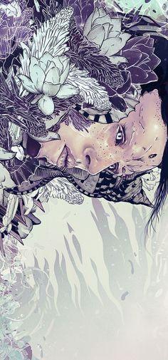 Illustrations 2013 by Diego L. Rodríguez, via Behance #digital #illustration #drawing #portrait