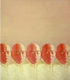 Chen Yu (Chine, 1969) Les hommes en série de la ligne 2000 huile sur toile, 120 x 100,5 cm