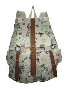 327 # Un color Siete Mi vecino totoro mochila bolsa de lona de impresión ocio hombros comerciales femenino boy mochila/bolsa en Mochilas de peluche de Juguetes y Pasatiempos en AliExpress.com | Alibaba Group