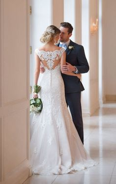 6569 Princess Wedding Dress with Off-the-Shoulder Sleeves by Stella York