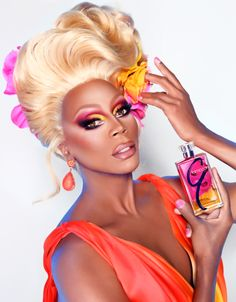 Beauty N Fashion My Way : New in Beauty: Famed Queen of the Drag Queens RuPaul is Launching Her Own Makeup and Fragrance Line Called Glamazon!