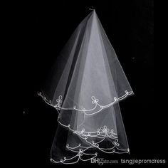 1.5m White/Ivory One Layer Lace Net Bridal Veils | Buy Wholesale On Line Direct from China