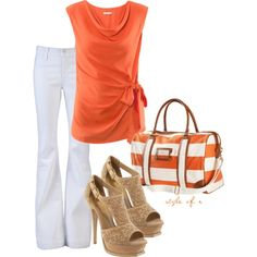 Hot in Orange, created by styleofe on Polyvore.