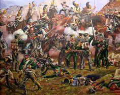 Scontro tra la cavalleria francese e la fanteria russa