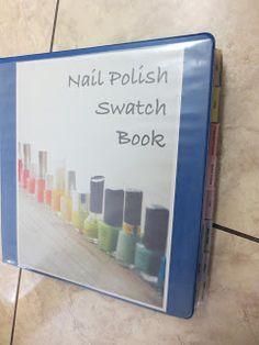Polish and Puppies: Nail Polish Swatch Book Organization