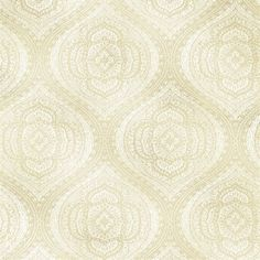 Zaida Champagne Paisley Damask  With a beautiful ethnic spirit, this paisley modern design wallcovering in a glistening champagne hue, designs an alluring damask on walls that shimmers with gold inks and a glamorous pearlescent sheen.
