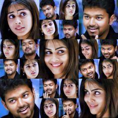 Movie Pic, Movie Photo, Sachin Movie, Vijay Actor, Wedding Couple Poses Photography, Cute Love Couple, Actors Images, Cinema Movies, Actor Photo