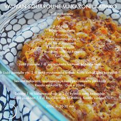 Vauvan soijarouhe-makaronilaatikko Toddler Meals, Toddler Food, Baby Led Weaning, I Love Food, Baby Food Recipes, Curry, Food And Drink, Vegetables, Babys