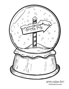 Christmas snow globe with North Pole sign coloring page – Print. Christmas snow globe with North Pole sign coloring page – Print. Christmas Doodles, Christmas Drawing, Christmas Coloring Pages, Christmas Sketch, Colouring Pages, Coloring Pages For Kids, Coloring Sheets, Coloring Books, Christmas Snow Globes