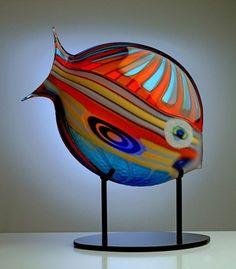 Another Italian Glass Rainbow fish sculpture by Maestro Gambaro