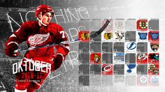 Schedule Wallpaper for the Detroit Red Wings Regular Season 2016. Game times are CET, notations are hungarian. Made by Gergő Tobler, aka TGer's DIY #tgersdiy #LGRW