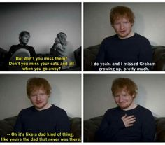 Ed as a dad