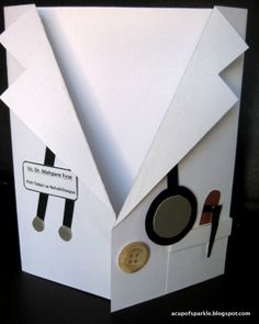 A Cup Of Sparkle: Tutorial for Handmade Cardmaking: Personalized Lab Coat Card for Doctors