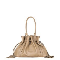 e743b9d303 Franc Fetiche - Sac bourse en cuir - taupe - Kesslord | Brandalley Bucket  Bag,