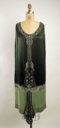 Art Deco French Silk Evening Dress 1925.
