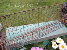 rusty wire basket ~~ from Vintage 541