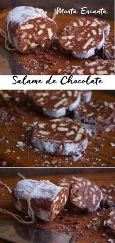 Salame de Chocolate ou Salame di Cioccolato, como é conhecido por toda a Itália. Como próprio nome diz, lembra um salame feito de chocolate, biscoitos e açúcar de confeiteiro para …