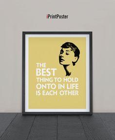 Audrey Hepburn poster print Art print by iPrintPoster on Etsy