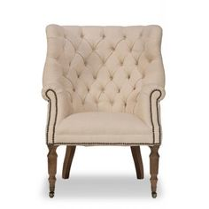 Welsh Linen Chair                       , Sarreid Ltd
