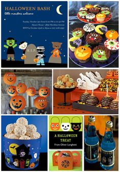 "Halloween Party Inspiration Board.   ""Happy"" Halloween for younger kiddos."