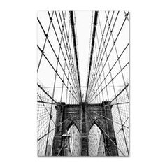 """""""Brooklyn Bridge 3"""" by CATeyes Photographic Print on Wrapped Canvas"""