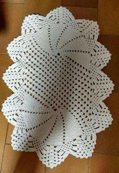 Ready to ship Crochet doily-Oval doilies-сoral crochet doily—Home decor—crochet doilies - Mother's D Crochet Table Topper, Crochet Table Runner, Crochet Tablecloth, Crochet Carpet, Crochet Yarn, Crochet Sunflower, Crochet Flowers, Crochet Round, Filet Crochet
