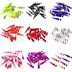 Wholesale 32pcs Fake Ear Plugs Taper Gauges Expander Stretcher Piercing Earring