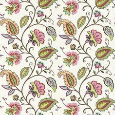 Sorellina Rose by Kasmir Textile Prints, Textile Design, Textile Art, Motif Floral, Floral Fabric, Batik Pattern, Pattern Art, Kalamkari Designs, Wallpaper Stickers