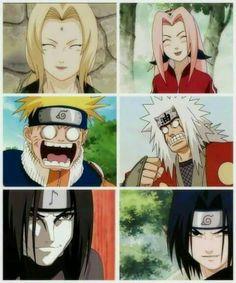 Sakura, Naruto and Sasuke are the disciples of the Legendary Sannin. Anime Naruto, Manga Anime, Naruto Comic, Naruto Cute, Naruto Shippuden Sasuke, Naruto Sasuke Sakura, Kakashi, Funny Naruto Memes, Naruto Team 7