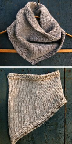 Bandana Cowl Free Knitting Pattern – Cowl Free Patterns Crochet and Knitting Loom Knitting, Knitting Stitches, Knitting Patterns Free, Knit Patterns, Hand Knitting, Free Pattern, Knit Crochet, Knit Cowl, Cable Cowl