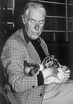 """Writer, Anthony Powell, author of """"Dance to the music of time"""", regarded as the English Proust and cat lover."""