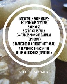 """262 Likes, 37 Comments - Legendairy Milk (@legendairymilk) on Instagram: """"Breastmilk soap is great for cradle cap, eczema and makes your skin super soft. Melt glycerin in a…"""""""