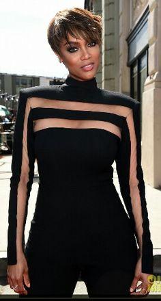 Tyra Banks 2015 Emmys. Designer Bryan Hearns.