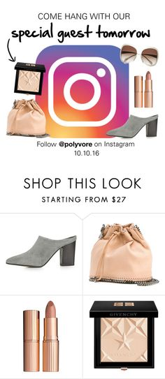 """Instagram Takeover Alert!"" by polyvore-editorial ❤ liked on Polyvore featuring Topshop, STELLA McCARTNEY, Charlotte Tilbury, Givenchy, Oliver Peoples and InstagramTakeover"
