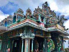 Temple at the top of Penang Hill, Malaysia - so colourful