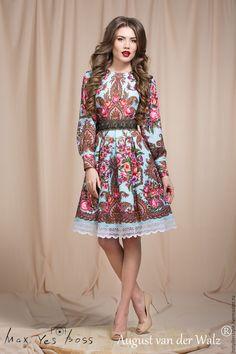 """Купить """"Славь"""" платье в Русском стиле, в мини длине,Russian Style - платье в русском стиле"""