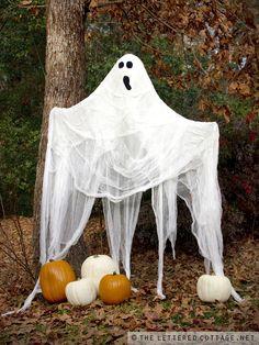 DIY gauzy ghost