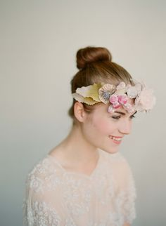 Photo of floral crown by Elizabeth Messina Photography Rapunzel, Wedding Styles, Wedding Photos, Age Of Aquarius, Wedding Looks, Simple Weddings, Fascinator, Headpiece, Headdress