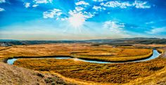 Panoramic landscape Yellowstone National Park, Wyoming, America great outdoors by Visionitaliane, $29.00