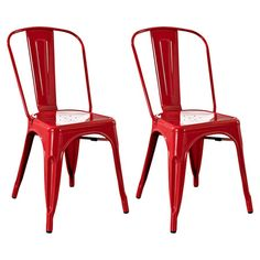 Steel+café+chair+in+red.